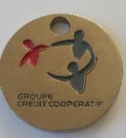 Jeton De Caddie - Banque - Groupe Crédit Coopératif - En Métal - - Jetons De Caddies