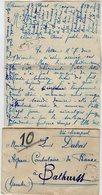 VP13.616 - 1920 - Lettre De Mme L. DUBOIS à VILLENEUVE D'OLMES Pour Mr DUBOIS à BATHURST ( Gambie ) - Récit - Manuscrits