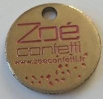 Jeton De Caddie - Zoé Confetti - Articles De Fête - En Métal - - Jetons De Caddies