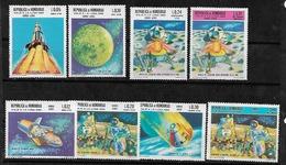 #B156A# HONDURAS YVERT A 427/434, MICHEL 741/748 MNH**, SPACE. - Honduras