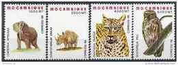 1996 MOZAMBIQUE 1311-14** Animaux, Elephant, Rapace - Mozambique