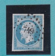 N°14 A    PC  749   CHARLEVILLE   /  ARDENNES  +  VARIETE       REF ACDIV - 1853-1860 Napoleon III