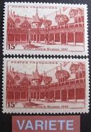 R1692/427 - 1942 - BEAUNE -  N°539 + N°539a NEUFS** - VARIETE ➤ Papier Creme - Variétés Et Curiosités