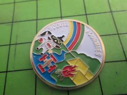 715a Pins Pin's / Rare & De Belle Qualité  THEME : ASSOCIATIONS / SCOUT SCOUTISME FOURMIES VACHE ARC EN CIEL - Associations