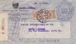 COVER. LETTRE. PERU. 1 MAY 1939. MINISTERIO DE FOMENTO AEREO. REGISTERED LIMA TO FRANCE - Pérou
