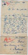 VP13.617 - 1920 - Lettre De Mme L. DUBOIS à VILLENEUVE D'OLMES Pour Mr DUBOIS à BATHURST ( Gambie ) - Récit - Manuscrits