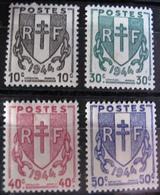 R1692/428 - 1945 - TYPE CHAÎNES BRISEES -  N°670 à 673 NEUFS** - France