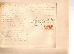 L.A.S. ROBERT DU CROCQUET DE GUYENCOURT. AMIENS.18-10-19. - Autographes