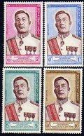 Laos N° 75 / 78   XX  Avènement D'un Nouveau Roi  La Série Des  4 Valeurs  TB - Laos