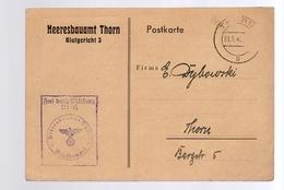 1940 Lagerhaus 16, Heeresbauamt  Thorn Malerarbeiten,  Frei Durch Ablosung (192) - Deutschland