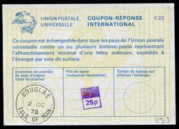 MAN (Ile)  Coupon Réponse International / International Reply Coupon - Man (Ile De)