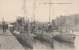 14 - CAEN - Torpilleurs Dans Le Port - Caen