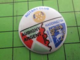 715b Pins Pin's / Rare & De Belle Qualité  THEME : ASSOCIATION / ROTARY CLUB FRANCE ECOSSE AUBIGNY HADDINGTON - Associations