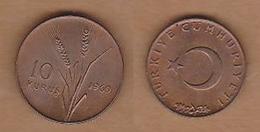 AC  - TURKEY  10 KURUS 1969 COPPER COIN UNCIRCULATED - Turquie