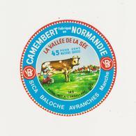 ETIQUETTE DE CAMEMBERT FERMIERS NORMANDS AUNAY SUR ODON 14 S VALLEE DE LA SEE - Fromage