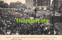 CPA TAMINES MANIFESTATION PATRIOTIQUE DU 25 MAI 1919 A LA MEMOIRE DES MARTYRS DE TAMINES - Sambreville