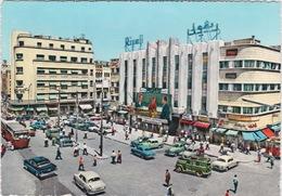 LIBAN LEBANON 1952 CARTE POSTALE - PLACE RIVOLI - ABDEL HALIM HAFEZ MOVIE IN THEATRE CINEMA - Liban