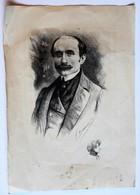 Gravure Signée Fernand Desmoulin Personnage à Identifier Sarah Bernhardt - Estampes & Gravures