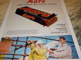 ANCIENNE PUBLICITE BARRE CHOCOLATE MARS 1965 - Autres Collections