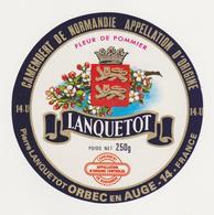 ETIQUETTE DE CAMEMBERT LANQUETOT ORBEC 14 U - Fromage