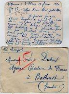 VP13.618 - 1920 - Carte - Lettre De Mme L. DUBOIS à VILLENEUVE D'OLMES Pour Mr DUBOIS à BATHURST ( Gambie ) - Récit - Manuscrits
