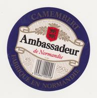 ETIQUETTE DE CAMEMBERT AMBASSADEUR 14 BP VIRE - Fromage