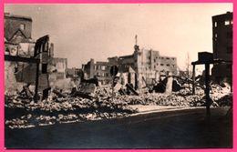 Cp Photo 13,5 * 8,5 - Rotterdam - Mei 1940 - Bij Het Beurs Station - Bourse - Bombardement - Foto S.G. BRUSSE - Rotterdam