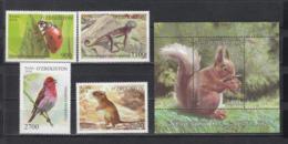 Uzbekistan Usbekistan MNH** 2018 Lokal Fauna  Mi 1324-28 Bl.88 - Usbekistan