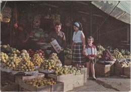 LIBAN LEBANON 1952 CARTE POSTALE - A FRUIT MARKET - BEIRUT MARCHE DES FRUITS - Liban
