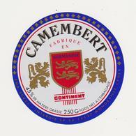 ETIQUETTE DE CAMEMBERT CONTINENT FAB. PAR 50453 STE CECILE - Fromage