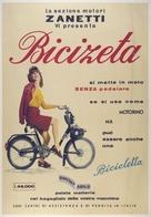 Cycle Postcard Bicizeta Motori Zanetti - Reproduction - Pubblicitari