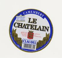 ETIQUETTE DE CAMEMBERT LE CHATELAIN FAB. PAR 50453 STE CECILE - Fromage