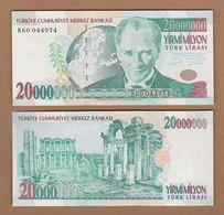 AC - TURKEY 7th EMISSION 20 000 000 TL K UNCIRCULATED - Turquie