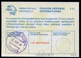 VÉNÉZUELA  Coupon Réponse International / International Reply Coupon - Venezuela