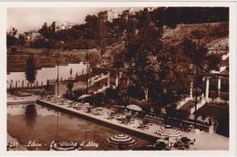 LIBAN LEBANON 1942 CARTE POSTALE - ALEY - LE PISCINE D'ALEY HOTEL - Liban