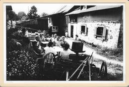 Photo (9,5x14,5)  Ferme-auberge Deybach -  SCHNEPFENRIED - Groupe De Randonneurs - Munster