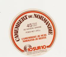 ETIQUETTE DE CAMEMBERT BUQUET CHAMBOIS 61 Q - Fromage