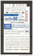 ITALIA - Biglietto Autobus BOLOGNA ATC Percorsi Extra Urbani E Suburbani - Europe
