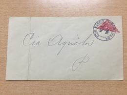 FL3698 Costa Rica 1931 Halbierung Auf Brief - Costa Rica