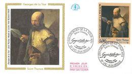 FDC Tableau Georges De La Tour : Saint Thomas (57 Vic Sur Seille 09/09/1993) - FDC