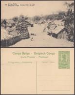 """Congo Belge - EP Vue 5C Vert - Nº39 Stanley-Falls """" Un Village """" (DD) DC1075 - Belgian Congo - Other"""