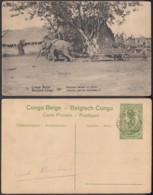 "Congo Belge - EP Vue 5C Vert  - Nº72 Api "" Eléphant Trainant Un Chariot  "" (DD) DC1085 - Belgian Congo - Other"