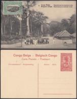 """Congo Belge - EP Vue 10C Rouge + Timbre 5C Vert  - Nº8  """" Rassemblement De Travailleurs à Irebu """" (DD) DC1086 - Belgian Congo - Other"""