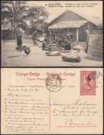"""Congo Belge - EP Vue 10C Rouge Voyagé - Nº19  """" Emballage De Poisson Sec Dans Le Mayumbe """" (DD) DC1088 - Belgian Congo - Other"""