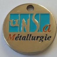 Jeton De Caddie - UNSA - Métallurgie - AIRBUS - HELICOPTERS - En Métal - Neuf - - Jetons De Caddies