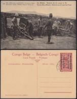"Congo Belge - EP Vue 5C Rouge - Nº24 Est Africain Allemand "" Au Mitoko "" (DD) DC1100 - Belgian Congo - Other"