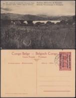 """Congo Belge - EP Vue 5C Rouge - Nº28 Est Africain Allemand """" Positions Allemandes De Kissegnies """" (DD) DC1101 - Belgian Congo - Other"""