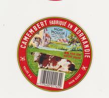 ETIQUETTE DE CAMEMBERT VALLEE CLECY FAB. PAR 61 S CHAMPSECRET - Fromage
