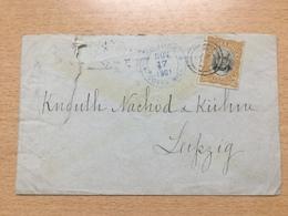 FL3698 Costa Rica 1901 Brief Von San José Nach Leipzig - Costa Rica