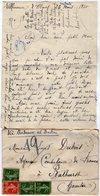 VP13.619 - 1920 - Lettre De Mme L. DUBOIS à VILLENEUVE D'OLMES Pour Mr DUBOIS à BATHURST ( Gambie ) - Récit - Manuscrits